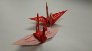ICIAM2023宣伝用折り鶴